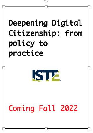 Deepening Digital Citizenship draft book cover